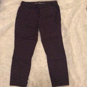Printed cropped pants, slim city khakis